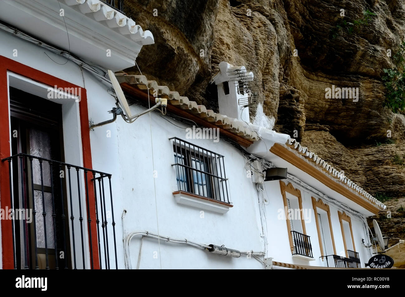 houses built into cliff stock photos houses built into cliff stock images alamy. Black Bedroom Furniture Sets. Home Design Ideas