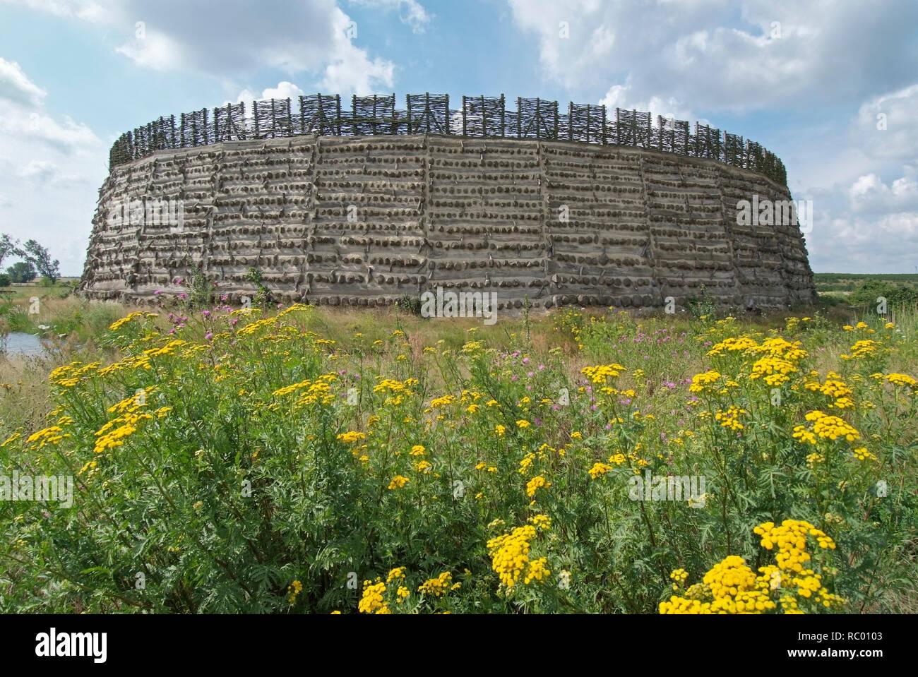 Slawenburg Raddusch bei Vetschau, Spreewald, Landkreis Oberspreewald-Lausitzkreis, Land Brandenburg, Deutschland, Europa   castle for the Wends, Wend' Stock Photo