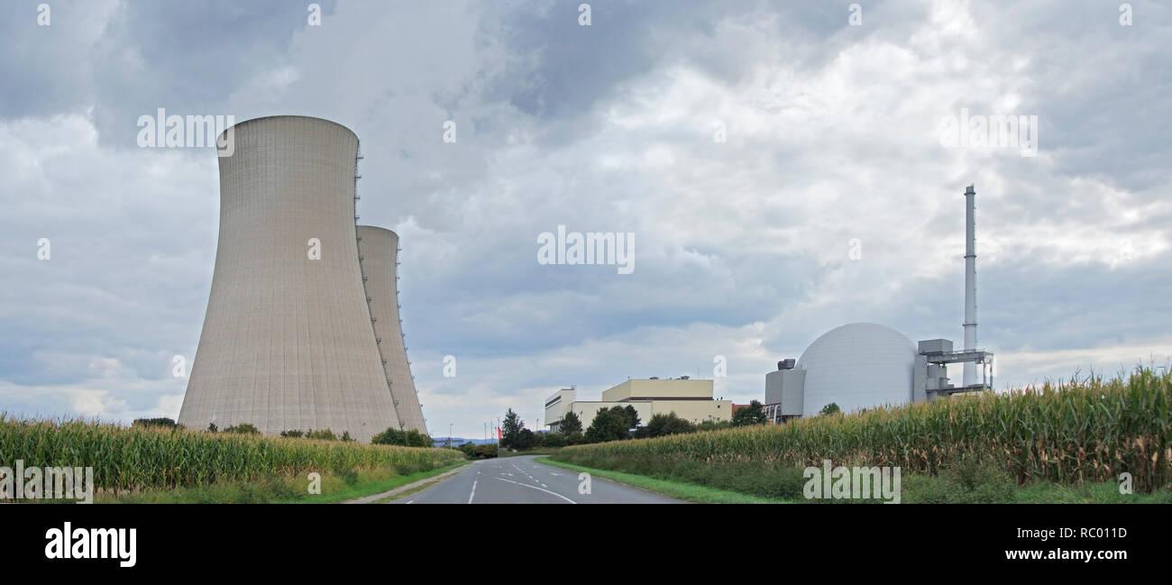 Gemeinschaftskernkraftwerk Grohnde, Gemeinde Emmerthal, Landkreis Hameln-Pyrmont, Naturpark Weserbergland Schaumburg-Hameln, Niedersachsen, Deutschlan - Stock Image