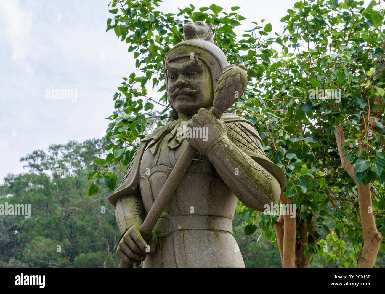 One of the Twelve Devine Generals, Andira, in Ngong Ping Piazza, Lantau Island, Hong Kong - Stock Image