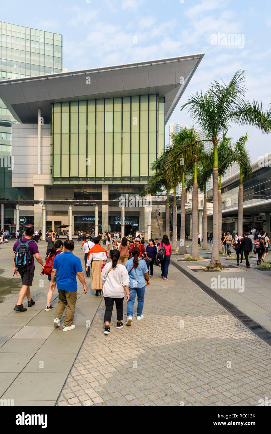 Citygate Outlet Mall plaza, Tung Chung, Lantau Island, Hong Kong - Stock Image