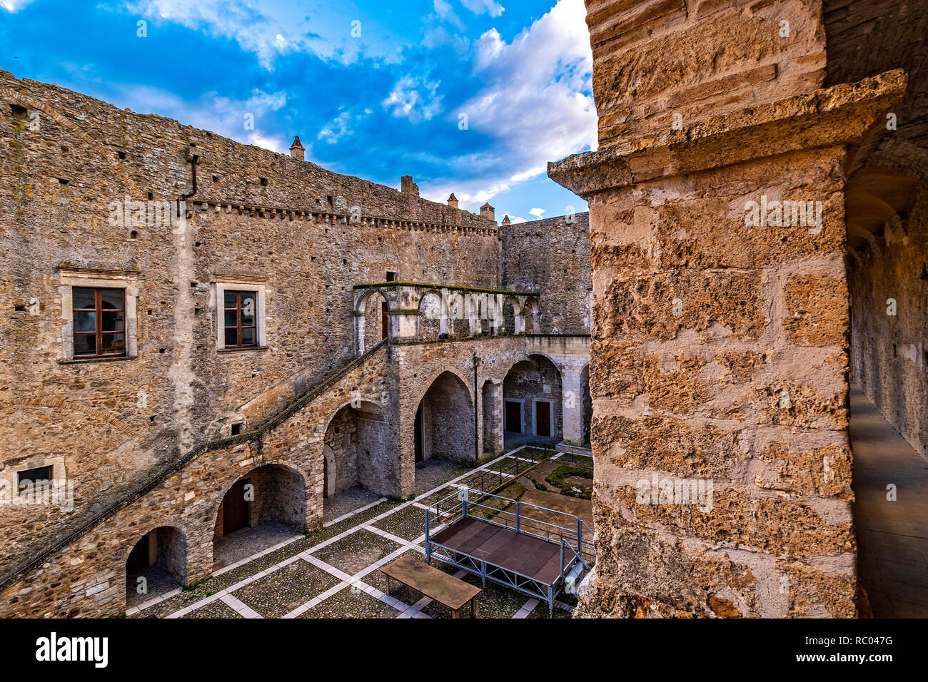 Italy Basilicata Miglionico castle of the Malconsiglio - Stock Image