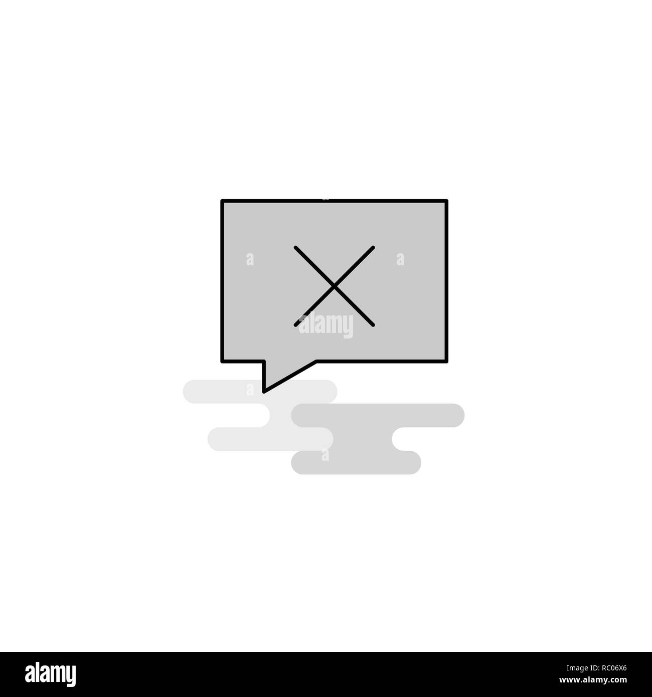 Message not sent Web Icon. Flat Line Filled Gray Icon Vector - Stock Image