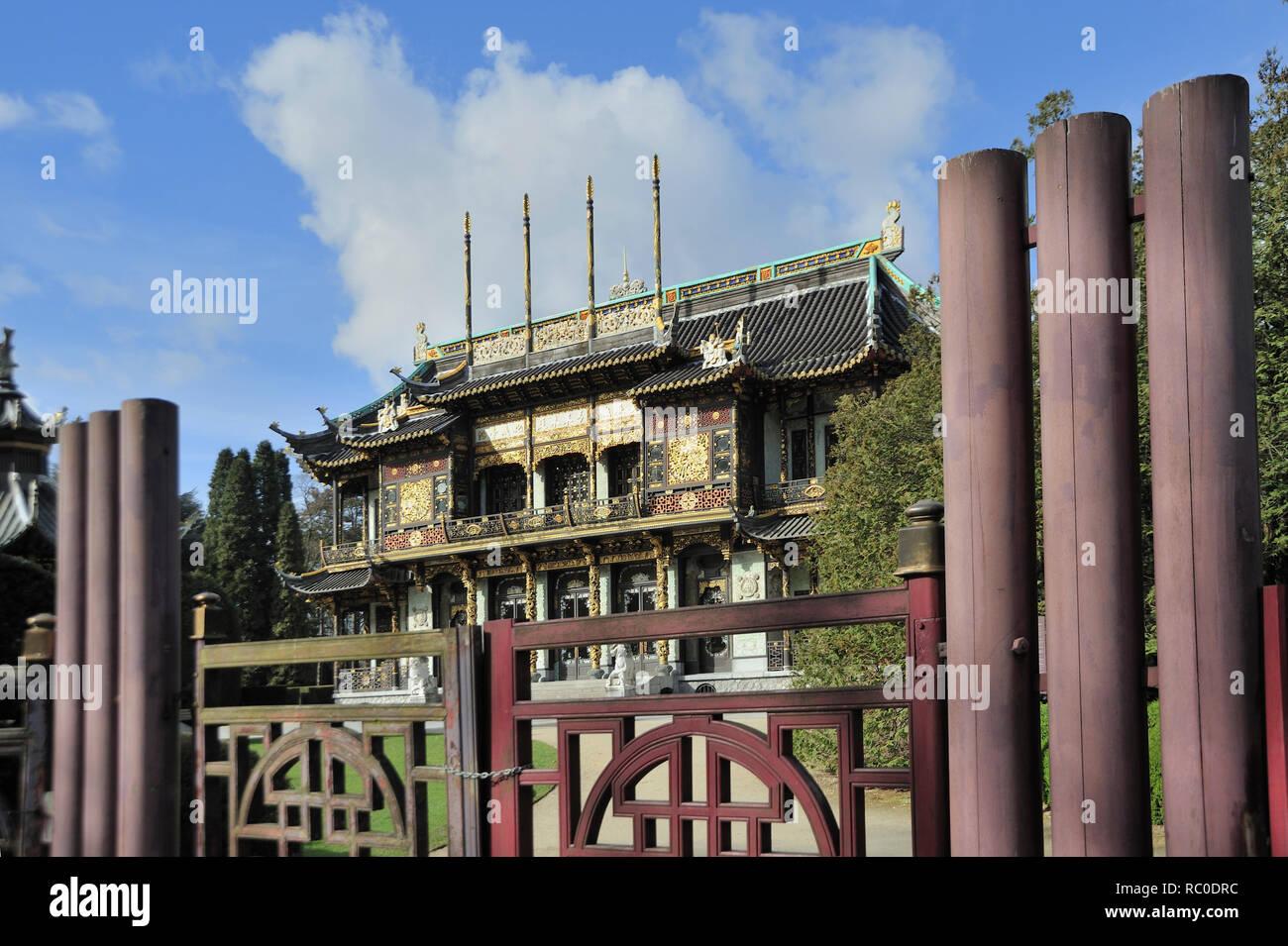 Chinesischer Pavillon, Laken,  Brüssel, Belgien, Europa | Chinese Pavilion, Laeken, Brussels, Europe - Stock Image