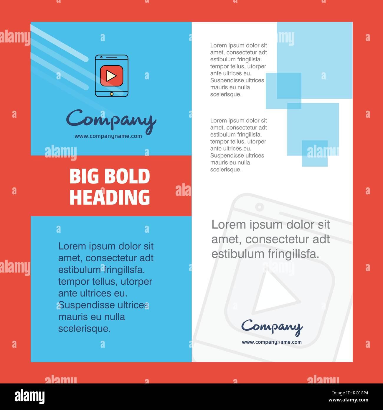 Video Company Brochure Title Page Design Company Profile