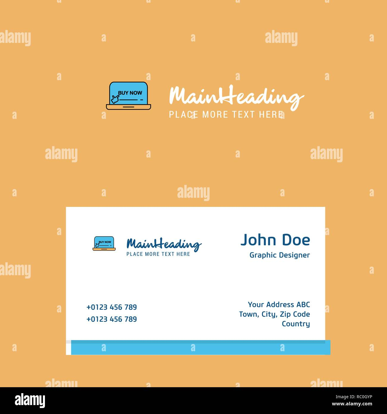 Online Shopping Logo Design With Business Card Template Elegant