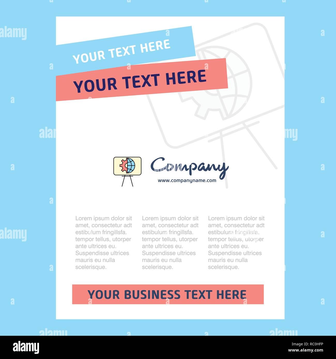 Presentation Title Page Design For Company Profile Annual