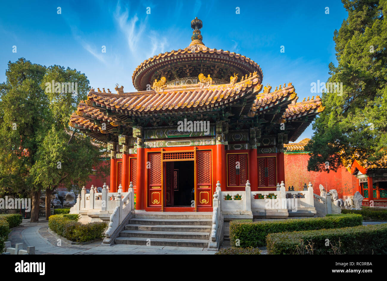 The Forbidden City is a palace complex in central Beijing, China. Stock Photo