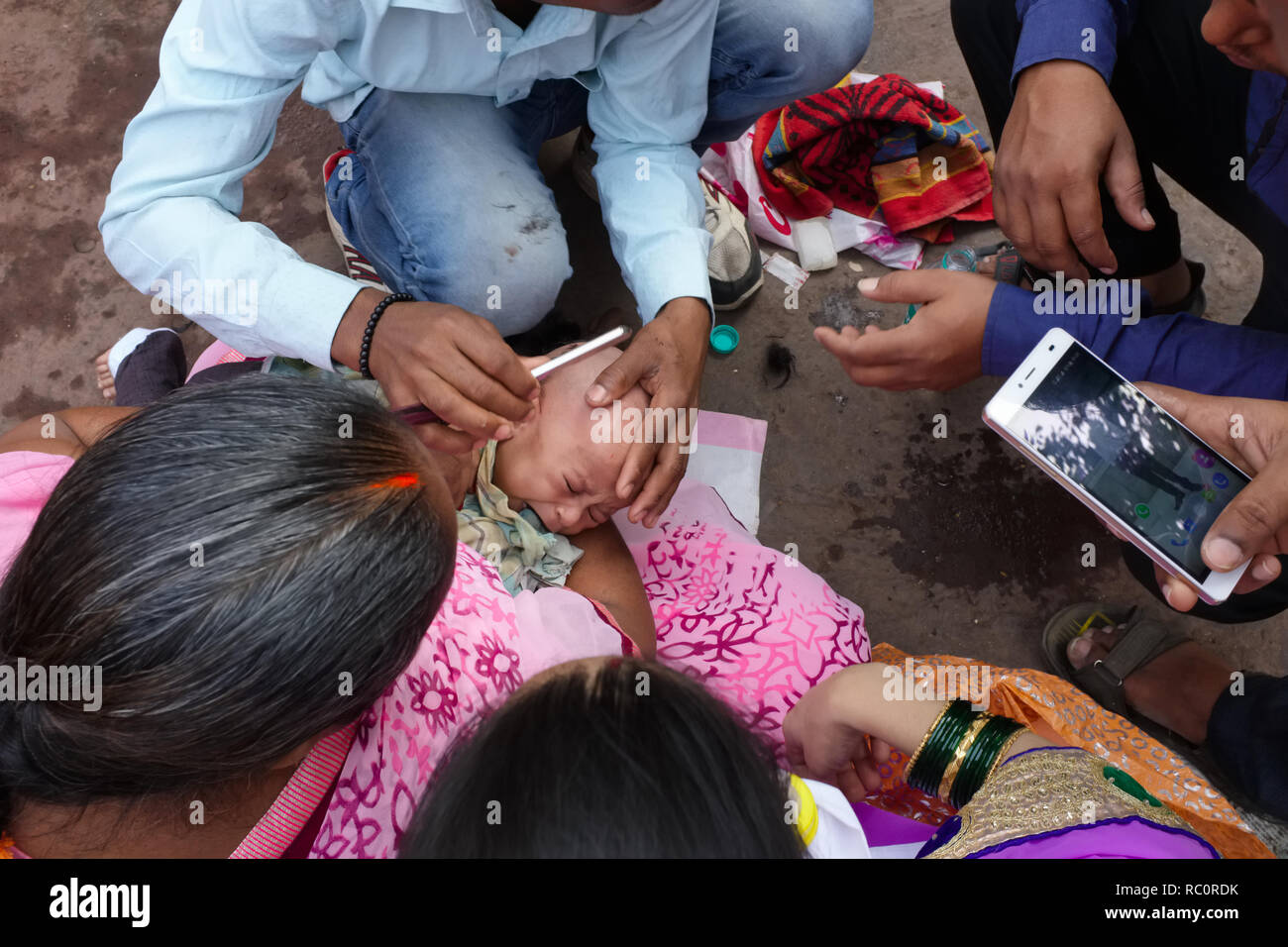 Hindu Baby Ritual High Resolution Stock Photography and Images - Alamy