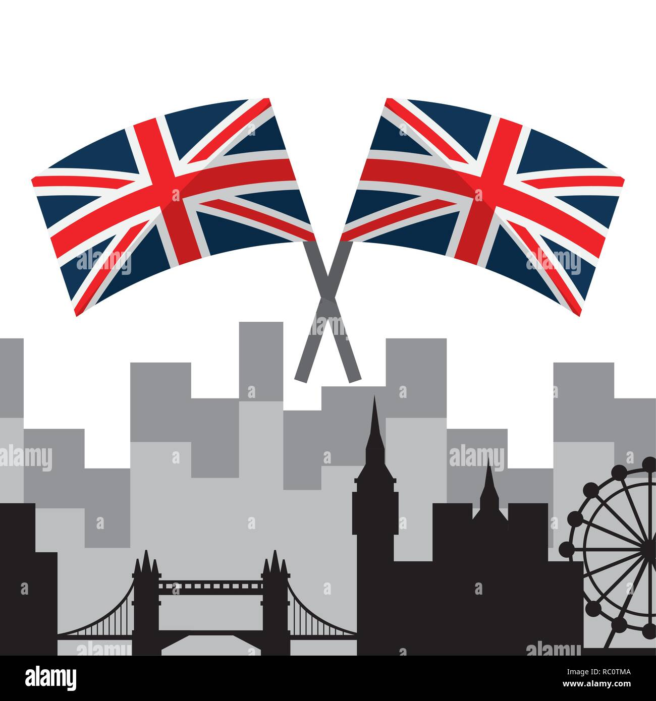London landmarks design  - Stock Vector