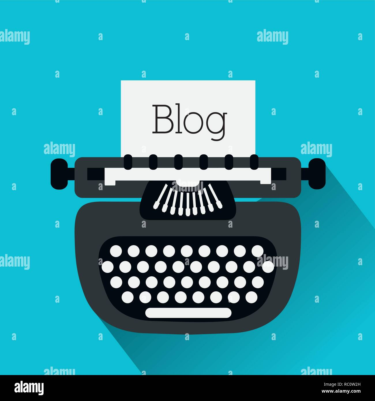 Blog design icons - Stock Image