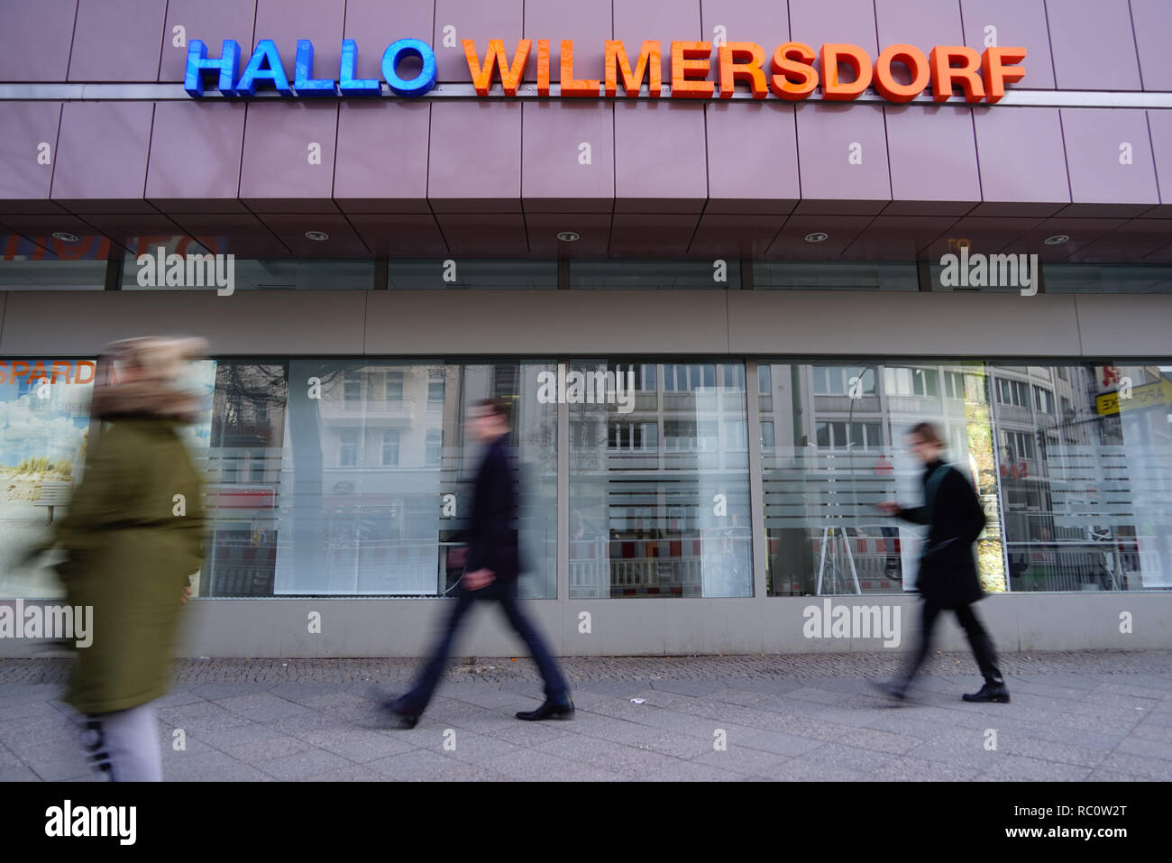 Berlin Blissestr. Hallo Wilmersdorf Stock Photo