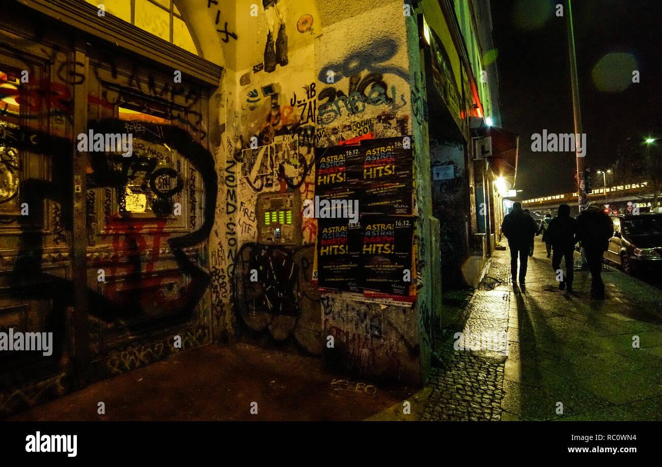Berlin Nacht Kreuzberg Oranienstr. - Stock Image