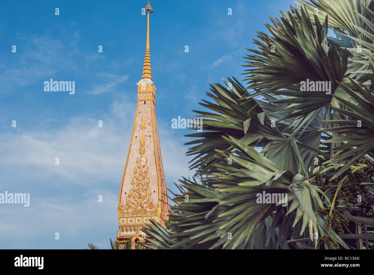 Wat Chalong is the most important temple of Phuket Stock Photo