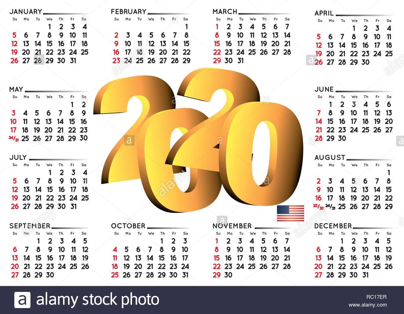 Calendario Febrero 2020 Usa February 2020 Calendar 2020 Cut Out Stock Images & Pictures   Page 2   Alamy