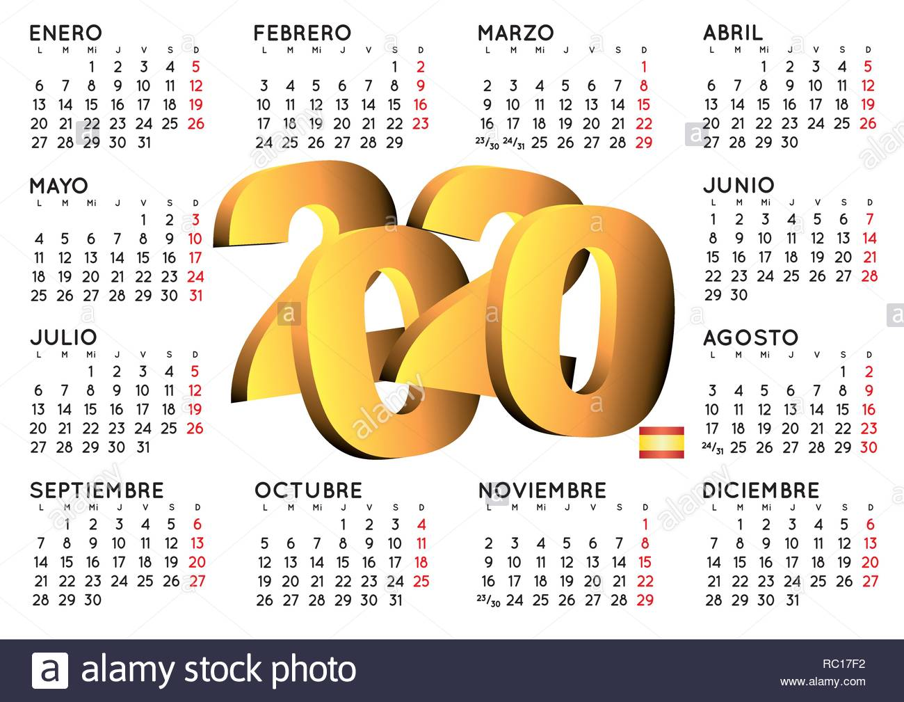 Calendario 2020 2020.2020 Elegant Calendar In Spanish Year 2020 Calendar