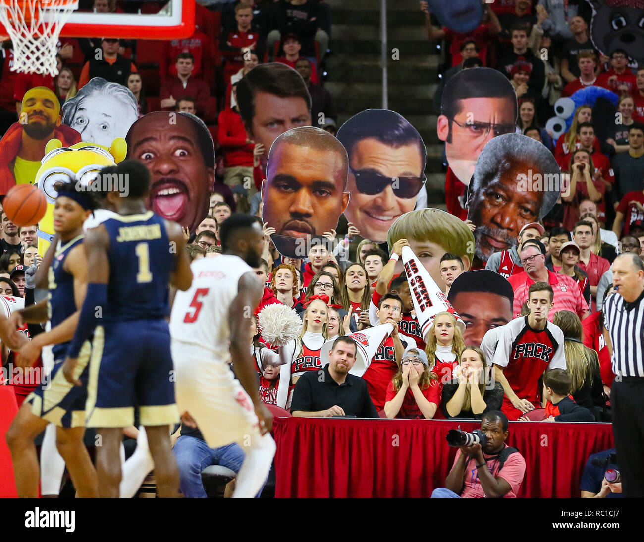 Pitt Live Wire | Raleigh North Carolina Usa 12th Jan 2019 Student Section During