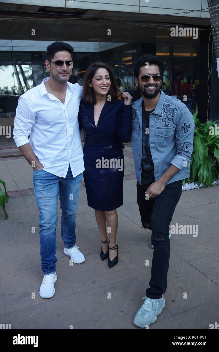 Mumbai,India, 12th jan 2019 : Bollywood Vicky Kaushal, Yami Gautam