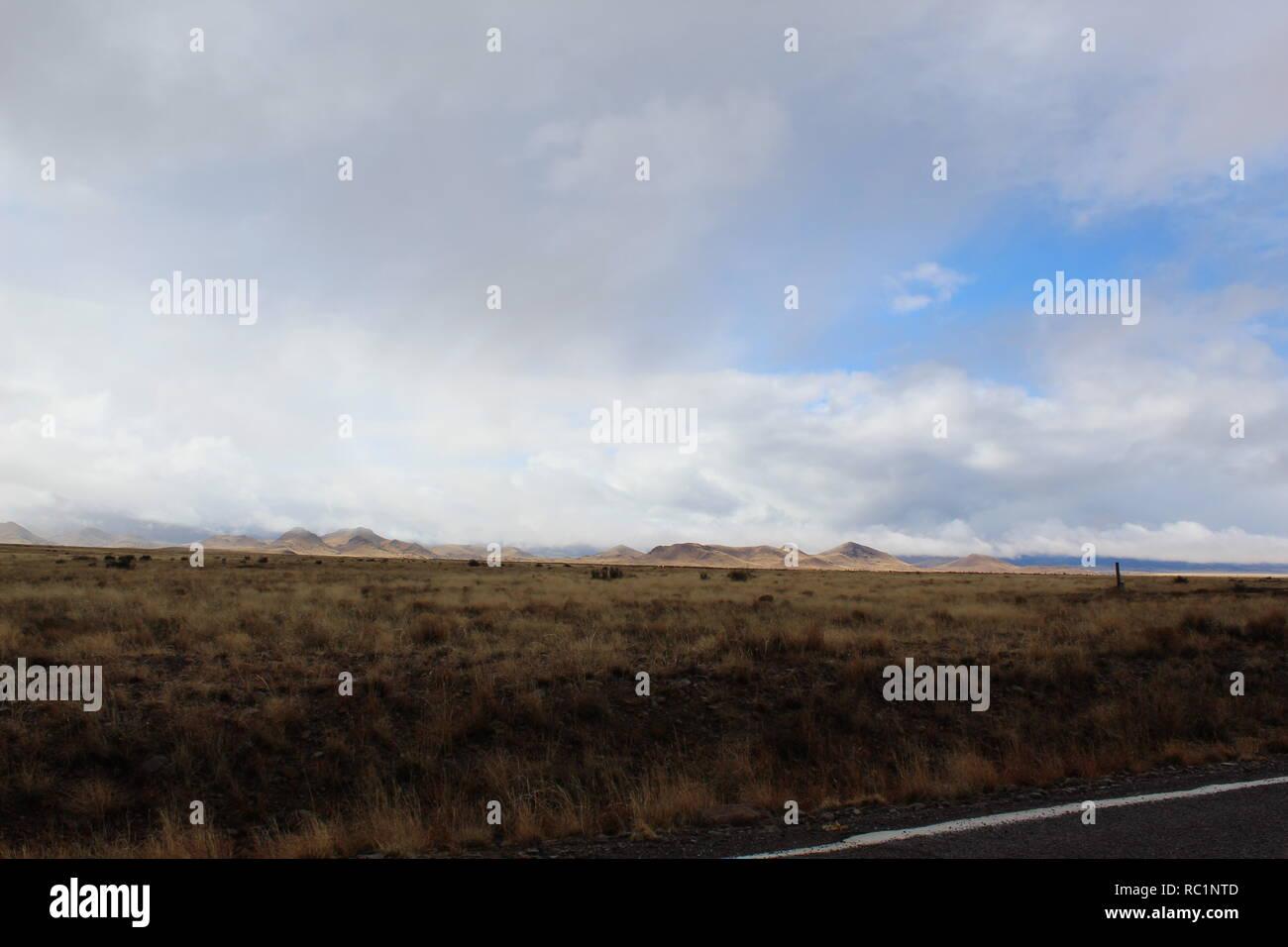 overcast road - Stock Image