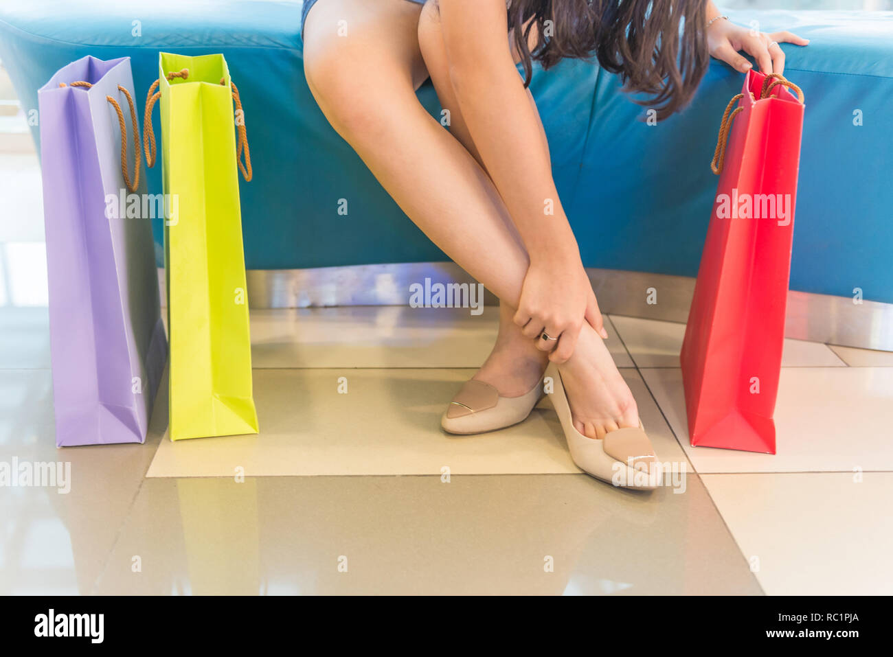 Foot soreness and inflammation - Stock Image