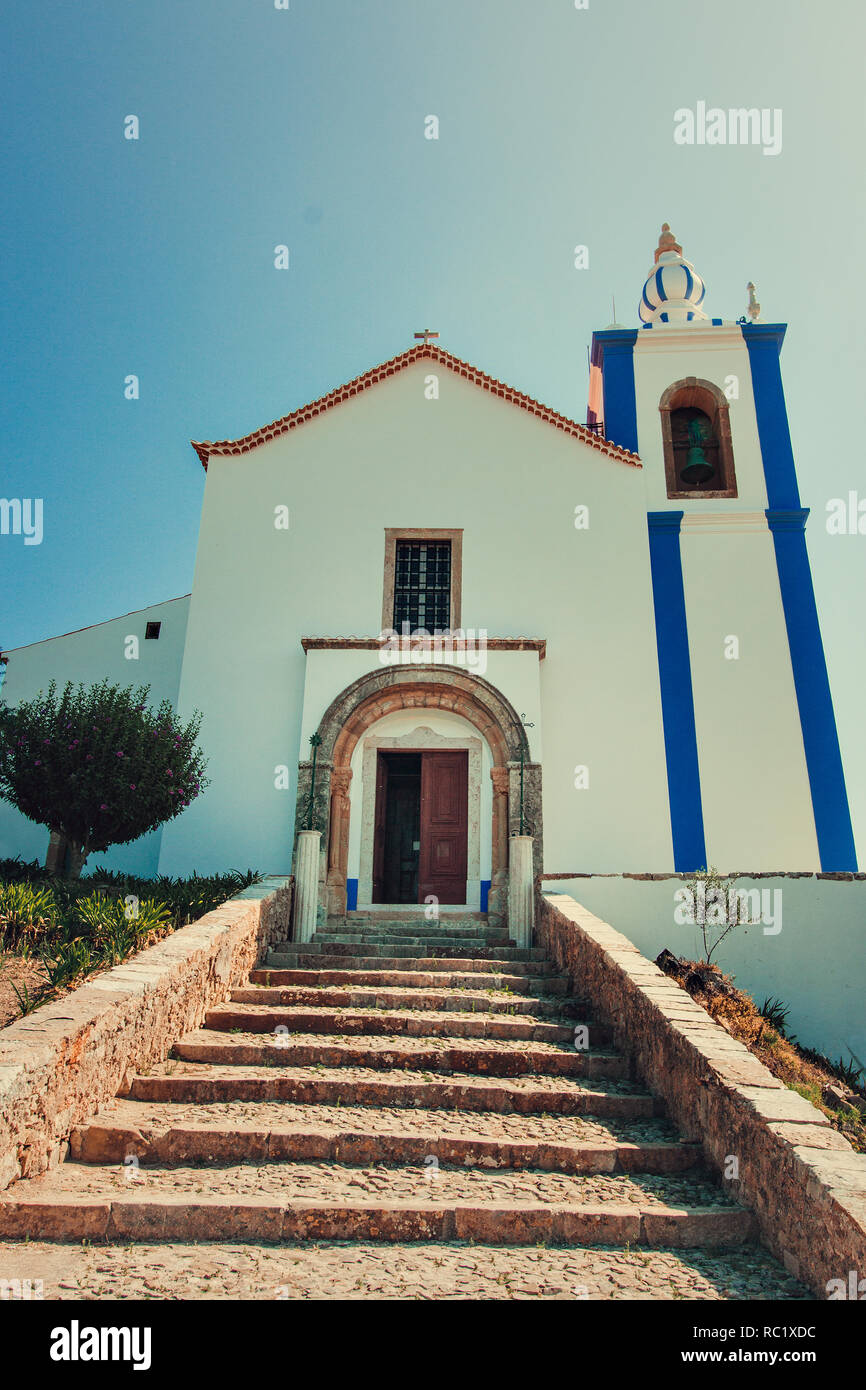The chapel of the castle of Torres Vedras, Portugal - Stock Image