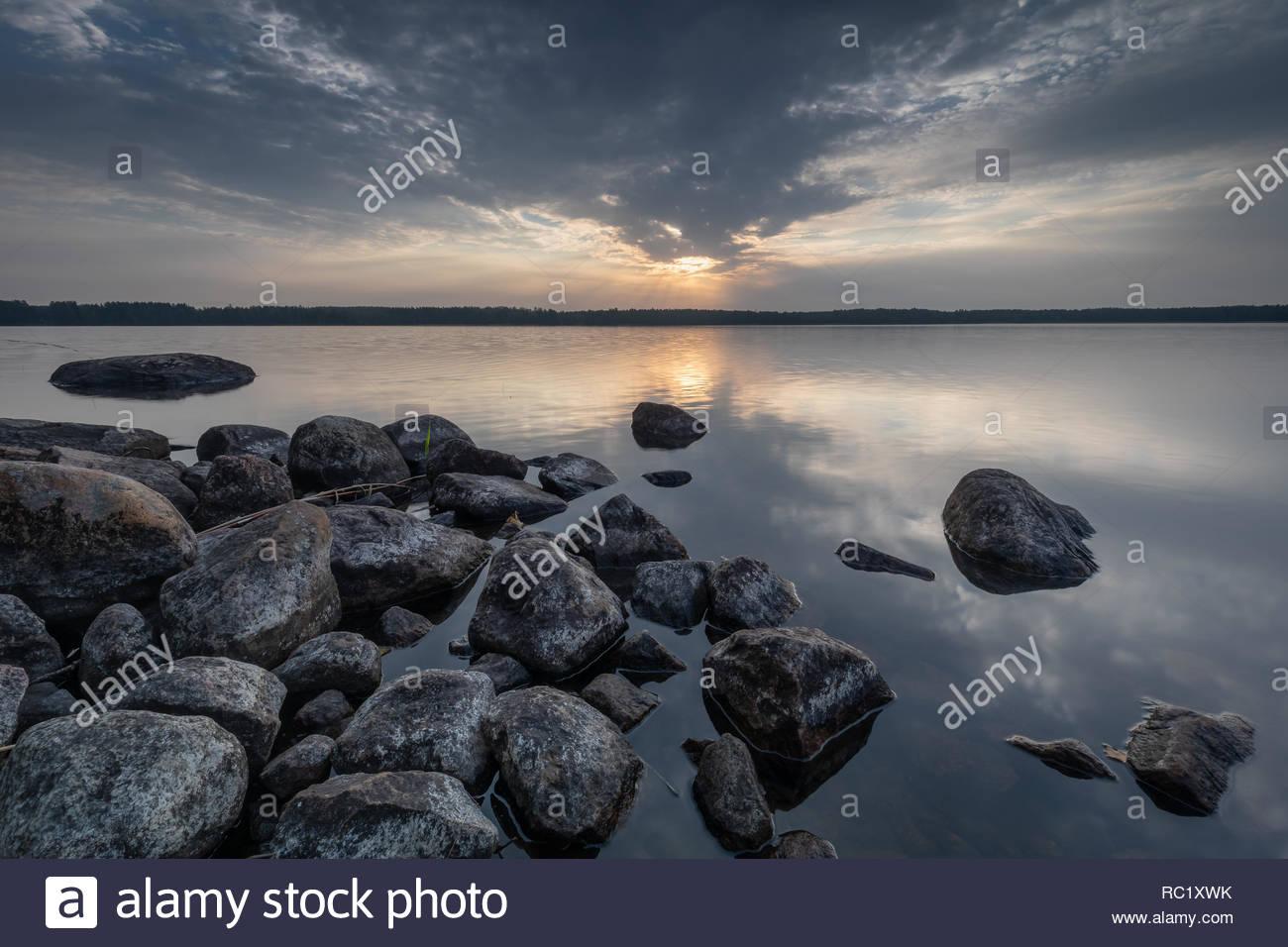 Finland sunrise - Stock Image