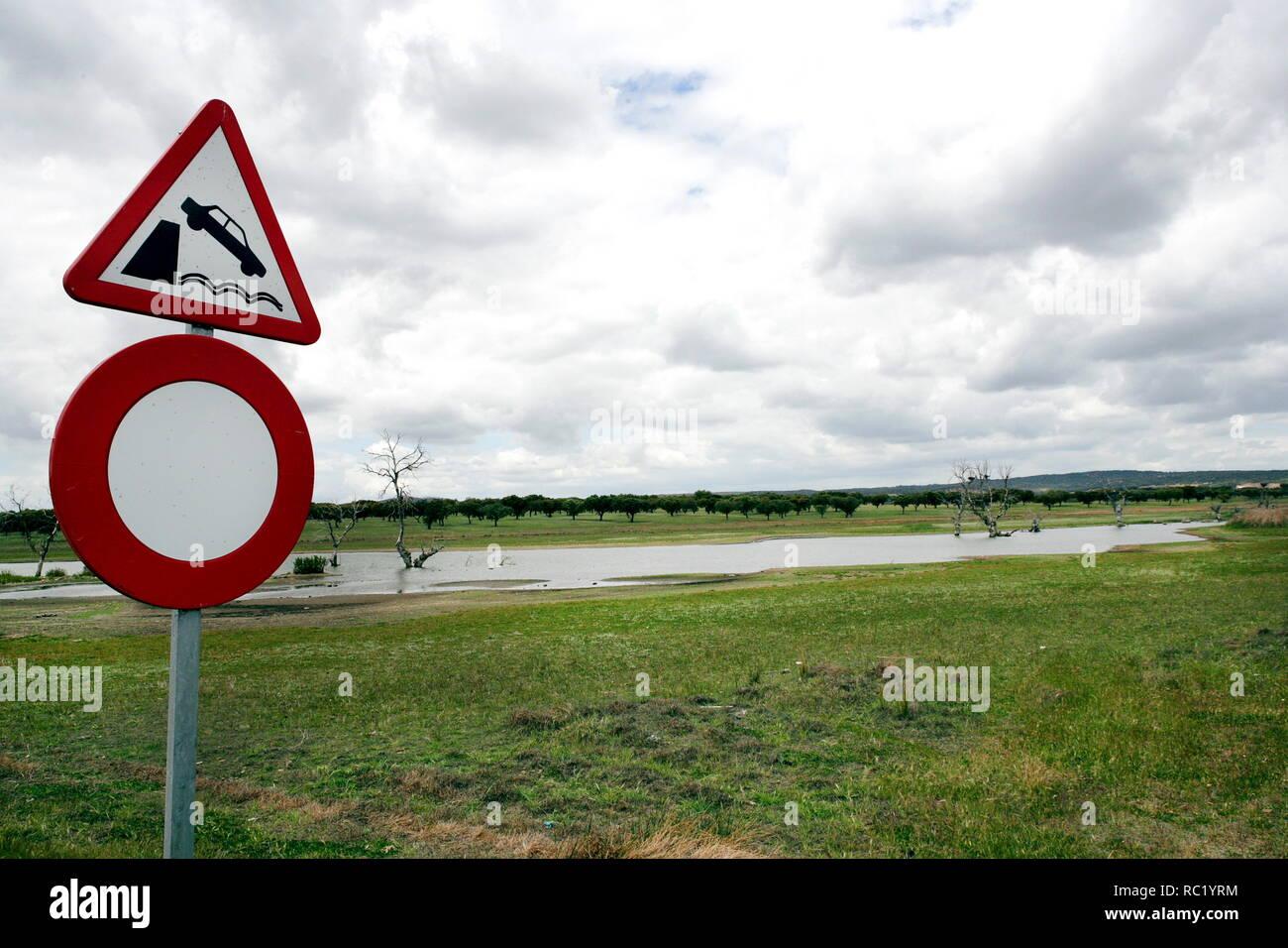 Lago artificial do Alqueva, Alentejo, Portugal Stock Photo