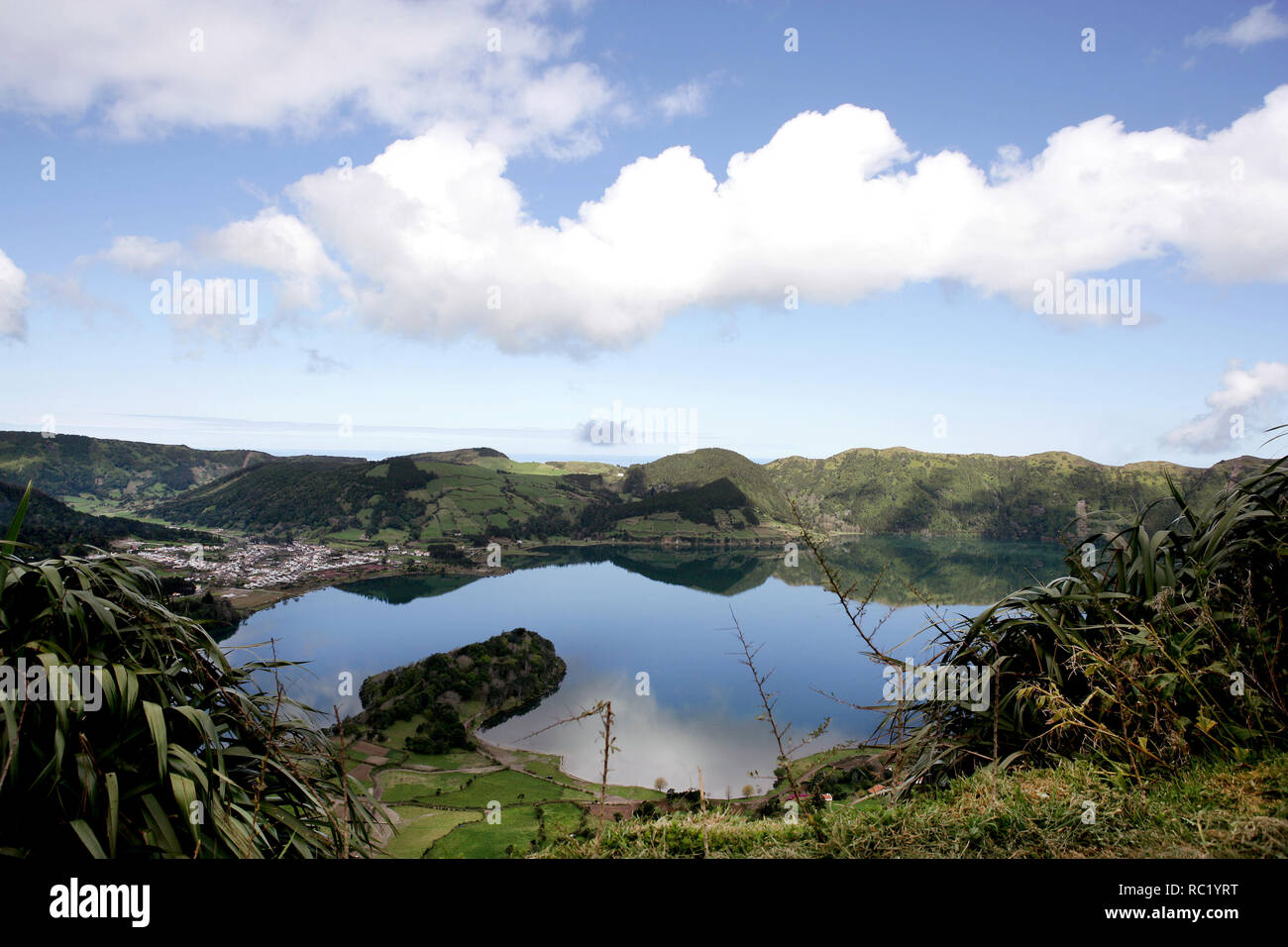 A great place to visit, the St. Michael Island, in Azores, Portugal, offers you a nice views from the sea and the nature. Stock Photo