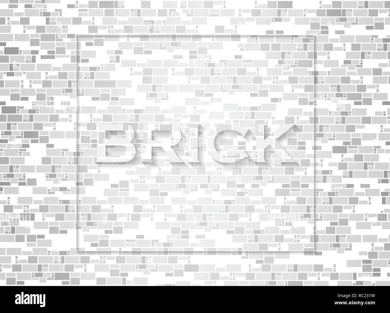 Abstract of bricks pattern background, vector eps10 - Stock Vector