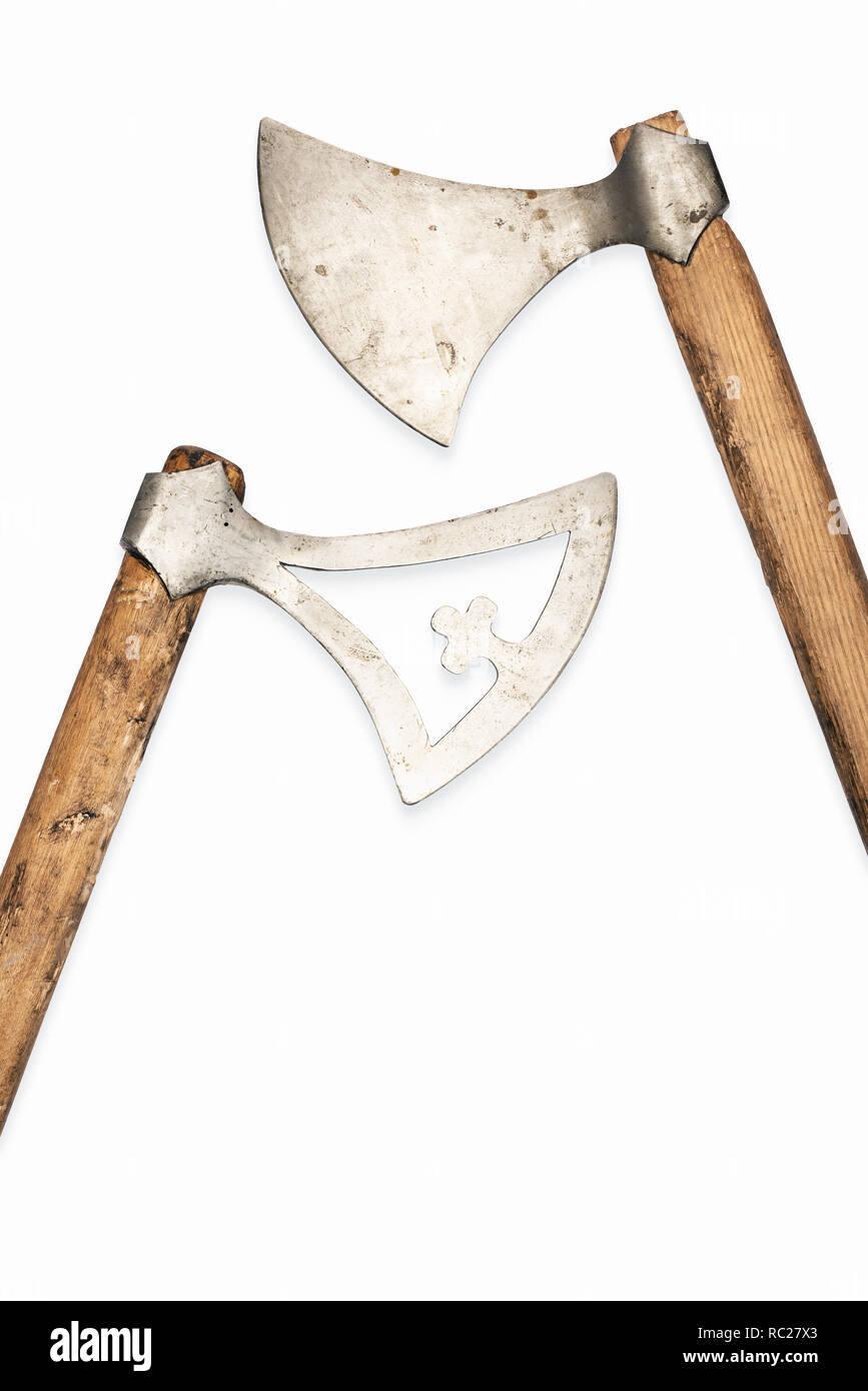 Viking Weapons Battle Axe Stock Photos & Viking Weapons