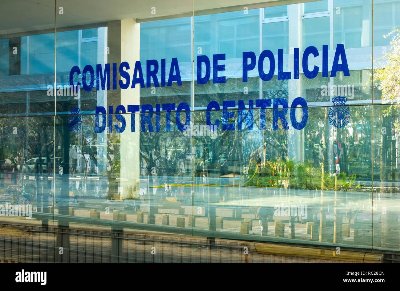 Local Police HQ in the Alameda de Hercules in Seville, Spain - Stock Image