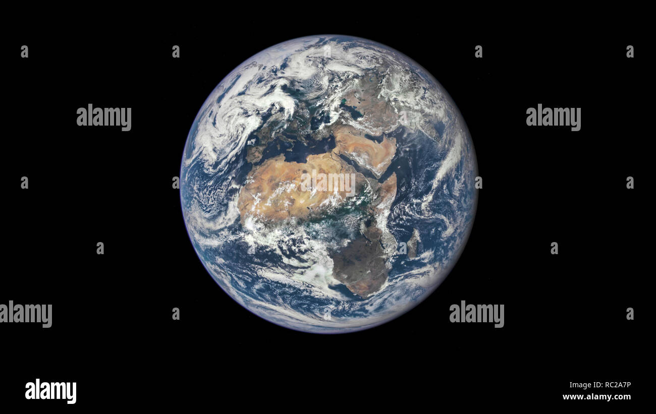 The beauty of the universe: Wonderful Planet Earth with view of Africa and Europe - Elements of this image furnished by NASA Stock Photo