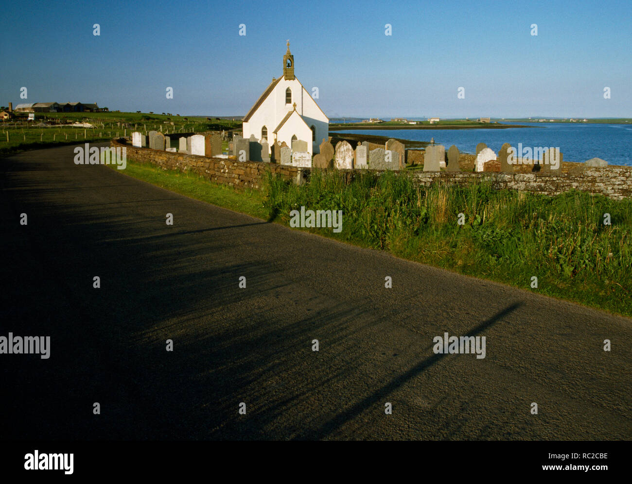 St John's church and graveyard, Stonequoy, Hoy, Orkney, Scotland. Non Denominational mission church, now redundant, cared for by local trust. - Stock Image