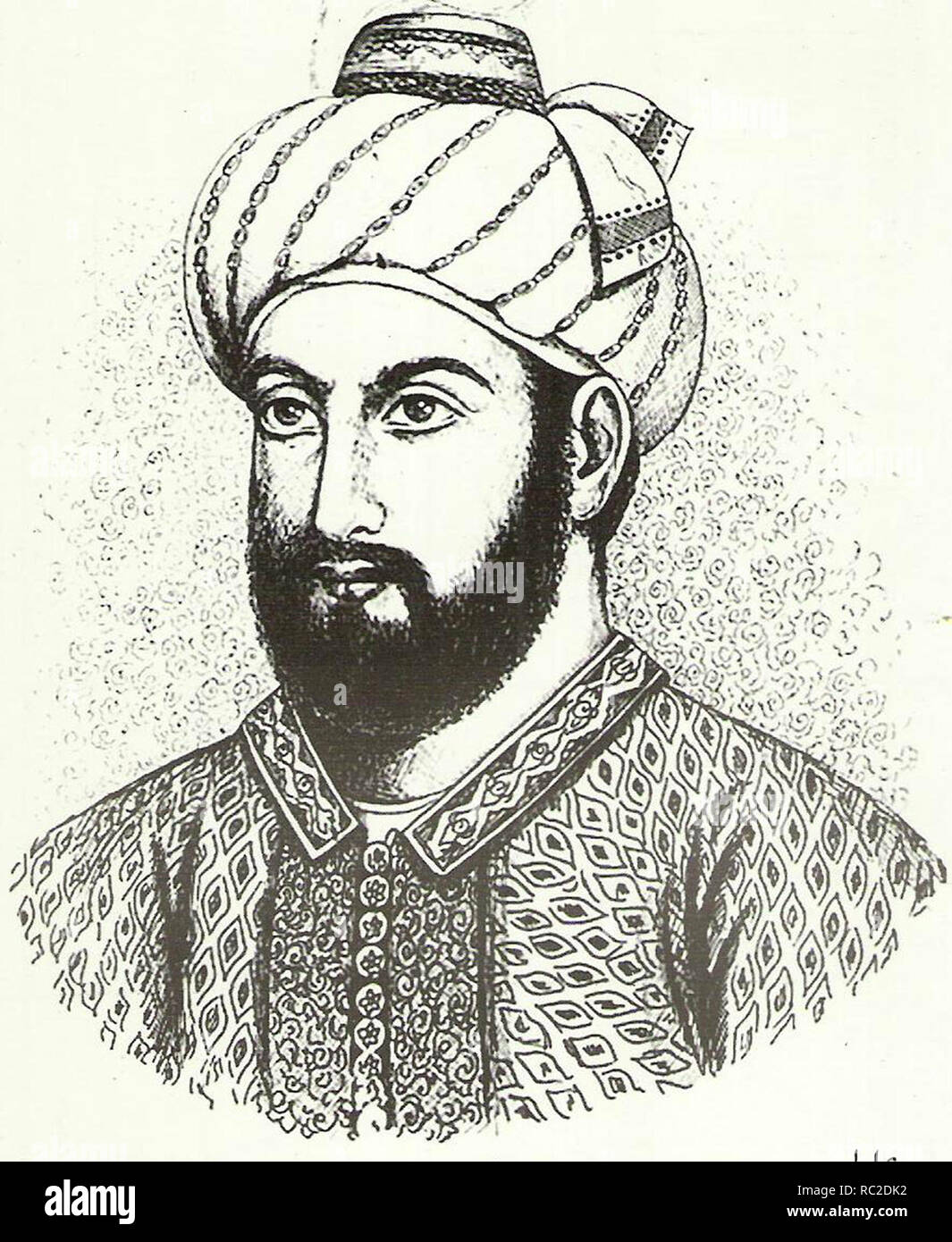 Timur Shah Durrani Sadozai, (1748 – 1793) second ruler of the Durrani Empire, from October 16, 1772 until his death in 1793. - Stock Image