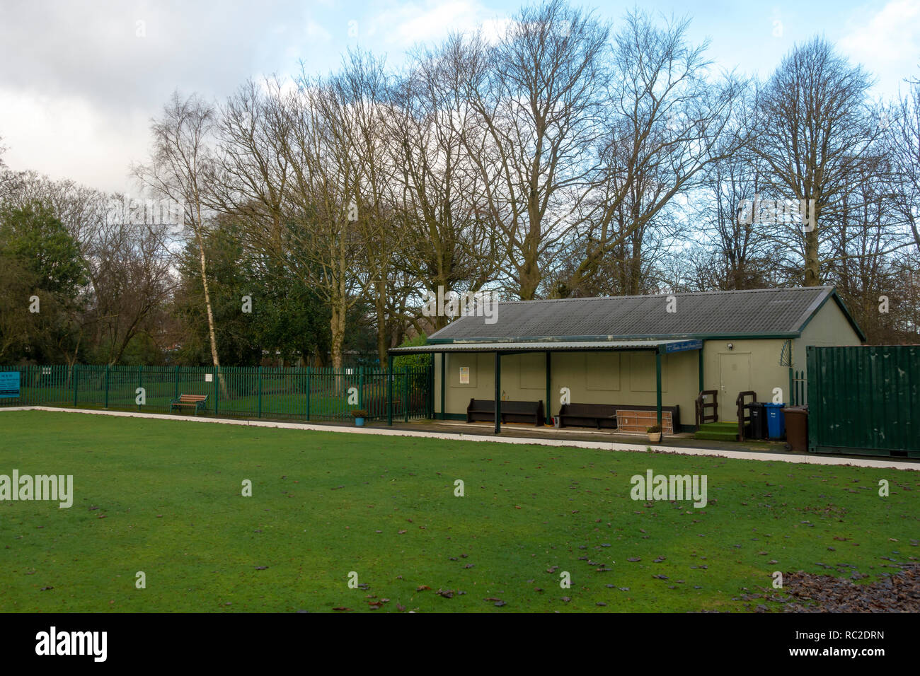 Close Park Radcliffe Bowling Pavilion - Stock Image