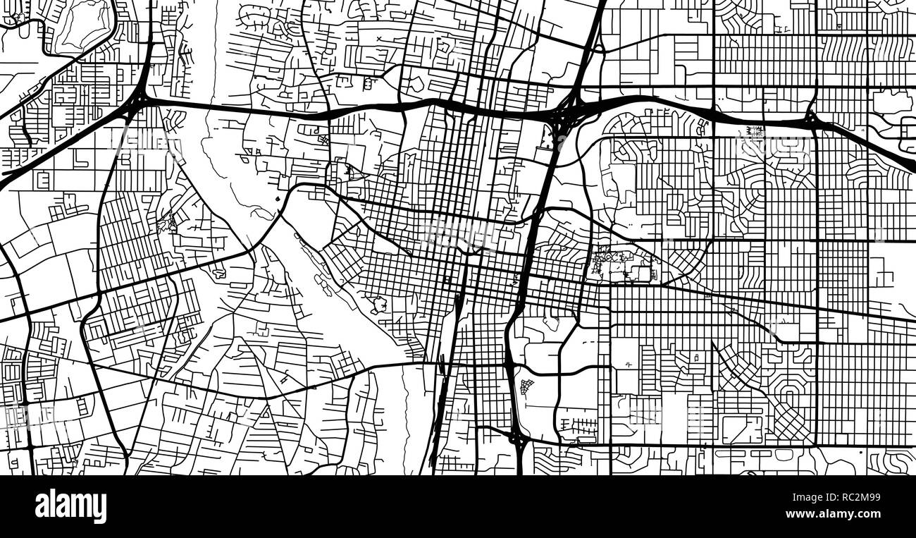 Urban vector city map of Albuquerque, New Mexico, United States of ...