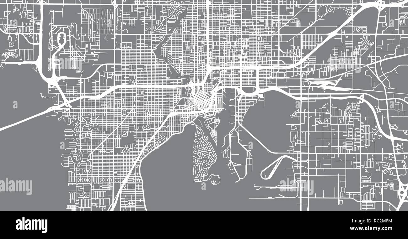 City Map Of Tampa Florida on