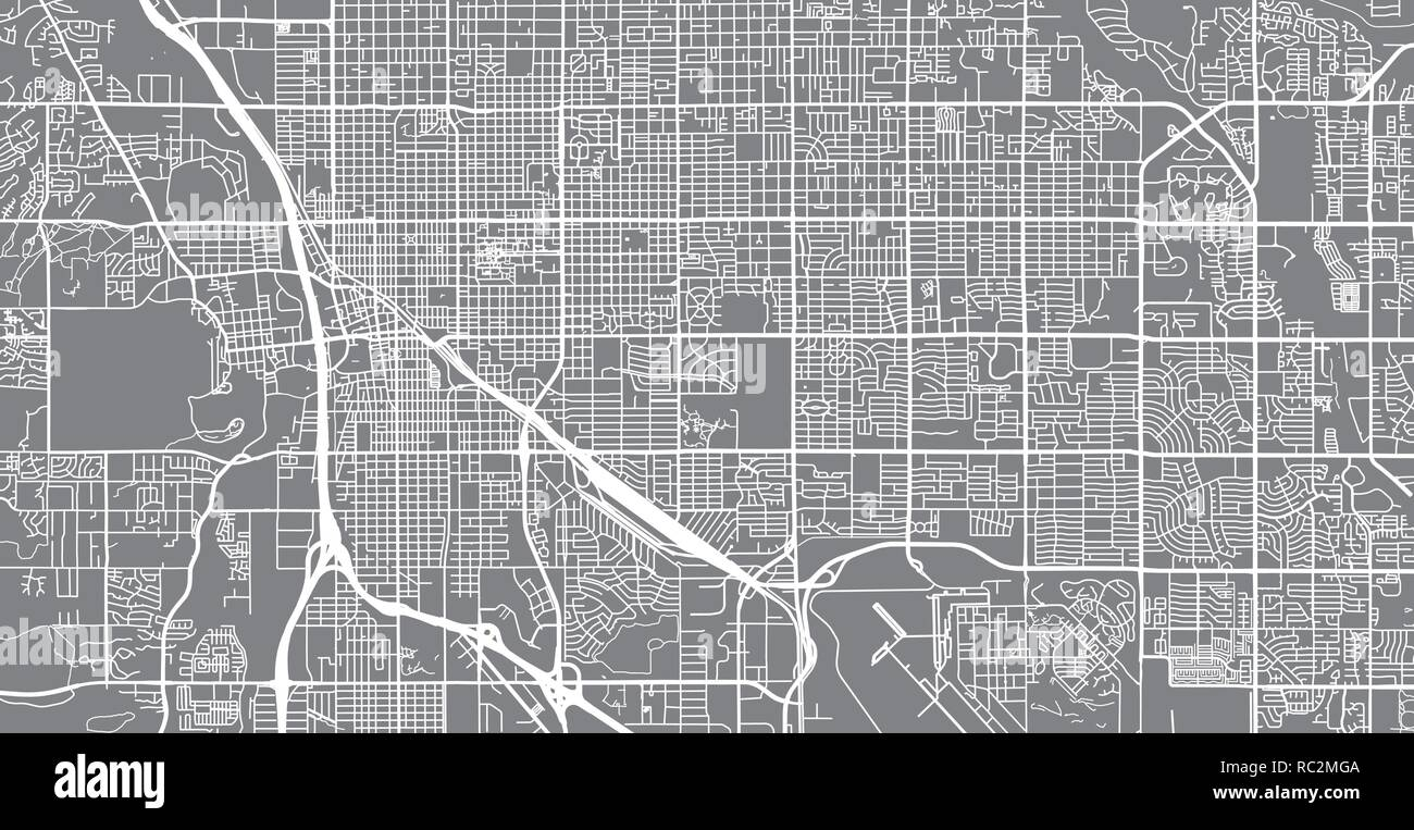 picture about Printable Map of Tucson Az identified as City vector town map of Tucson, Arizona, United Claims of