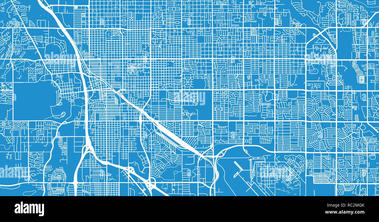 Urban vector city map of Tucson, Arizona, United States of America ...
