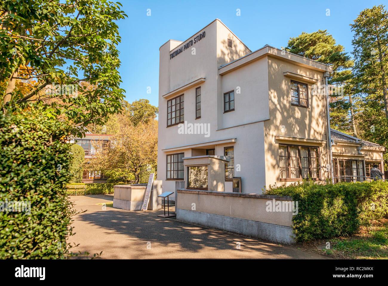 Tokiwadai Photo Studio, Edo Tokyo Open Air Architectural Museum, Japan,  build in 1937 | Das 1937 gebaute Tokiwadai Photo Studio im Edo Tokyo Open Air - Stock Image
