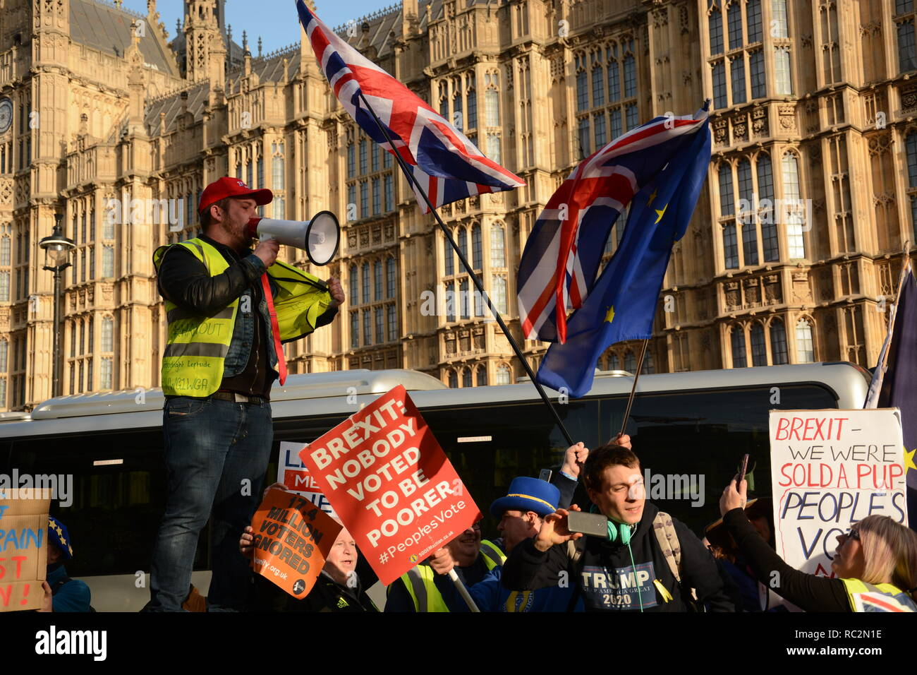 The day the first meaningful vote didn't take place 11th December 2018. - Stock Image
