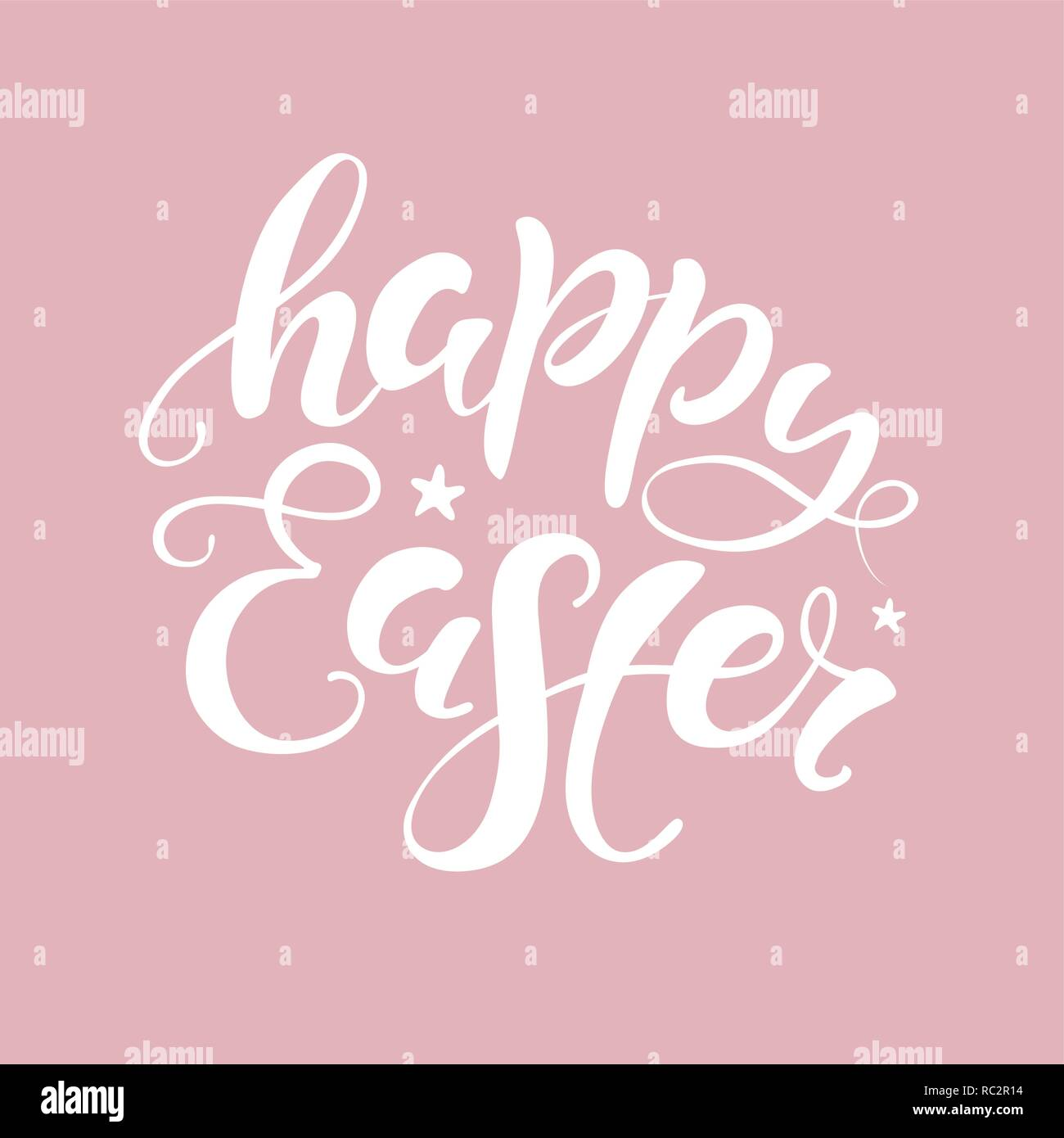 photo about Happy Easter Cards Printable named Vector Content Easter bunny lettering card. quotation in direction of layout
