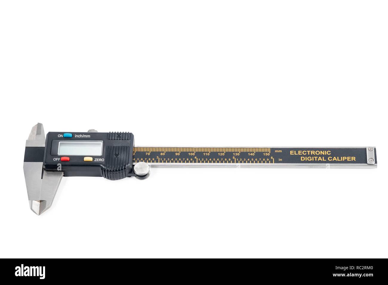 electronic digital caliper - Stock Image