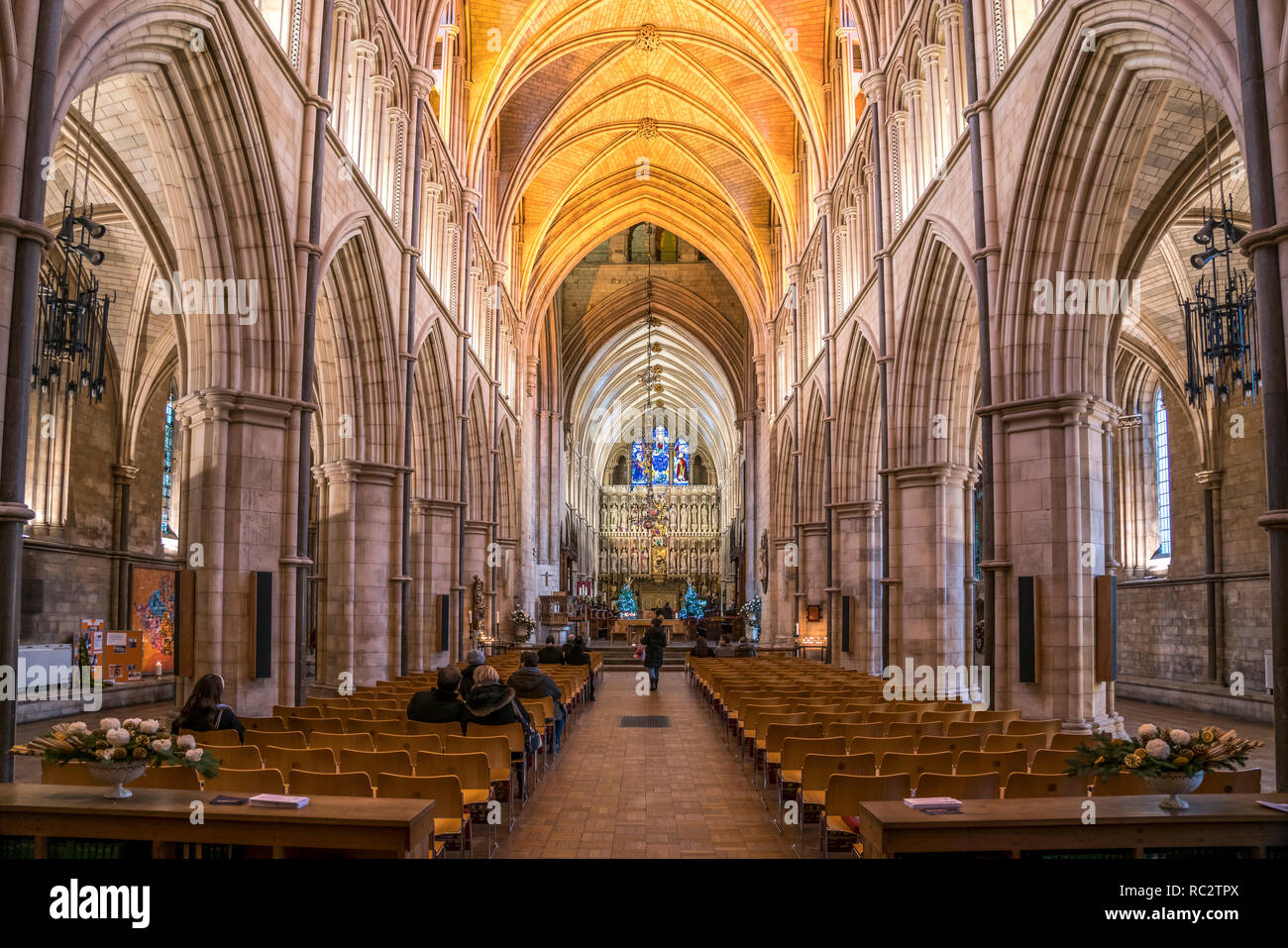 Innenraum der Southwark Cathedral, London, Vereinigtes Königreich Großbritannien, Europa |  Southwark Cathedral interior, London, United Kingdom of Gr - Stock Image