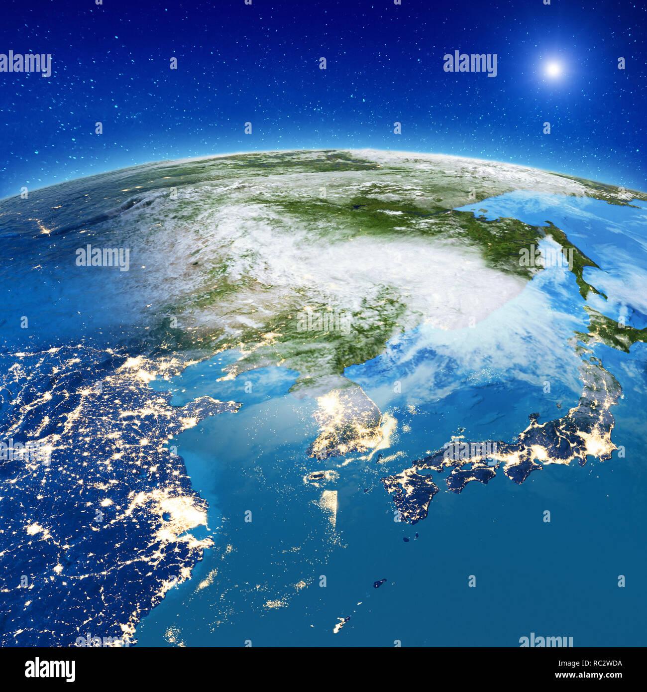 Asia - China, Japan and South Korea - Stock Image