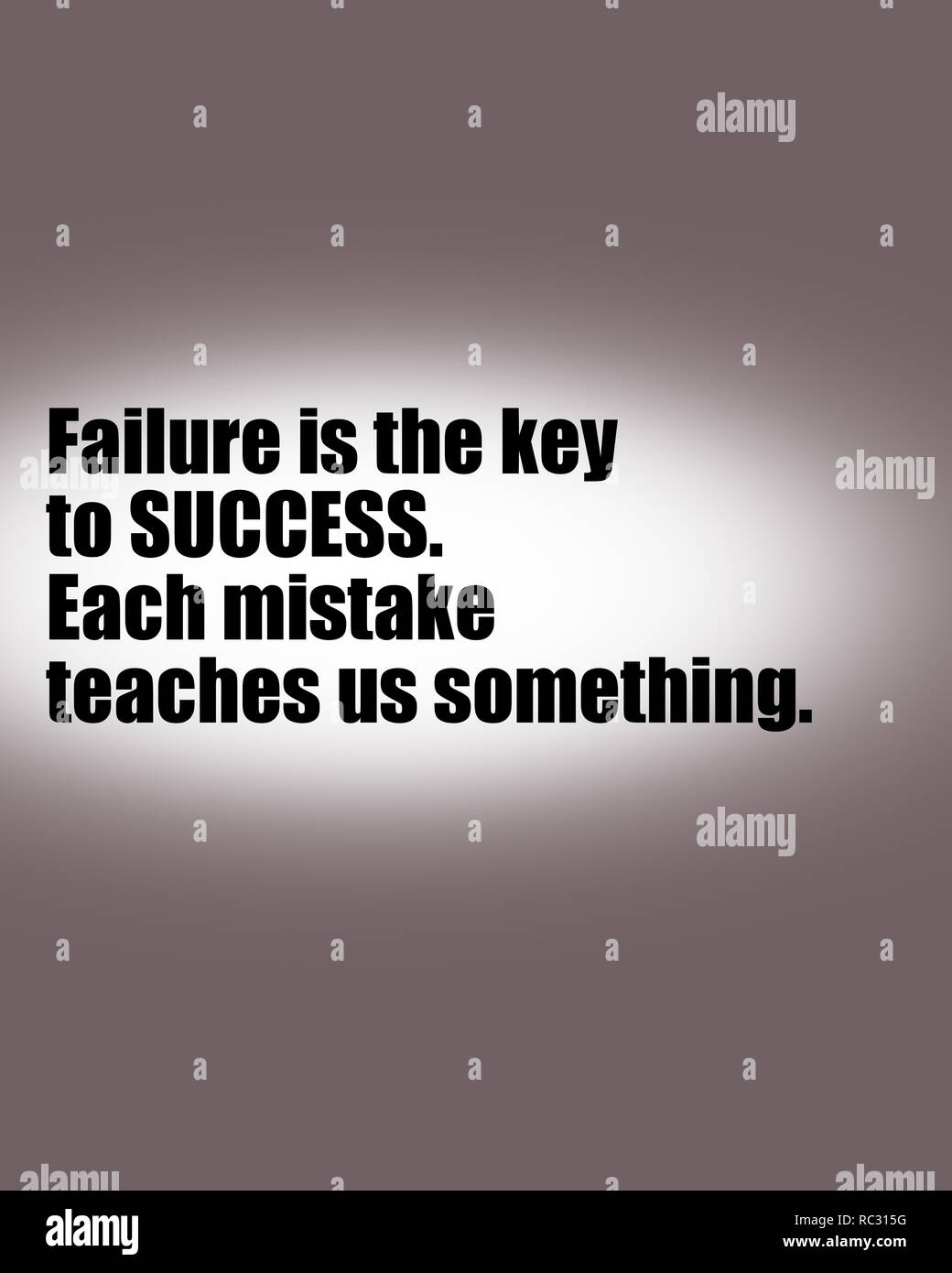 Inspirational Motivational Quote Life Wisdom Failure Is The Key To Success Stock Photo Alamy