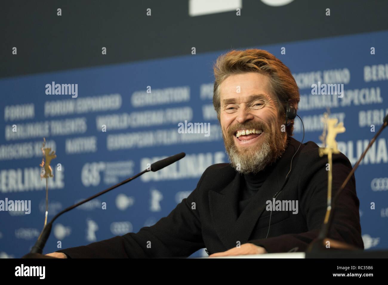 Willem Dafoe - Pressekonferenz, Berlinale 2018, 20. Februar 2018, Berlin Stock Photo