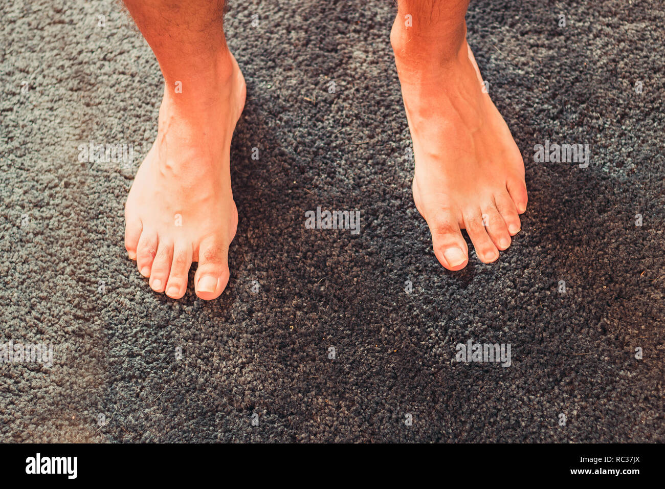 Photo of a human foot - Stock Image
