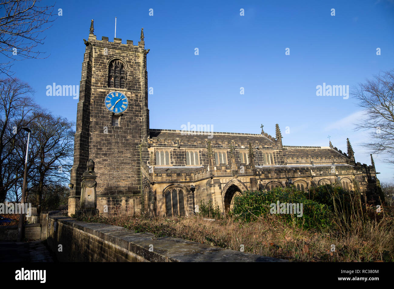 All Hallows Church formerly listed as Church of all Saints in Northgate, Almondbury, Huddersfield - Stock Image