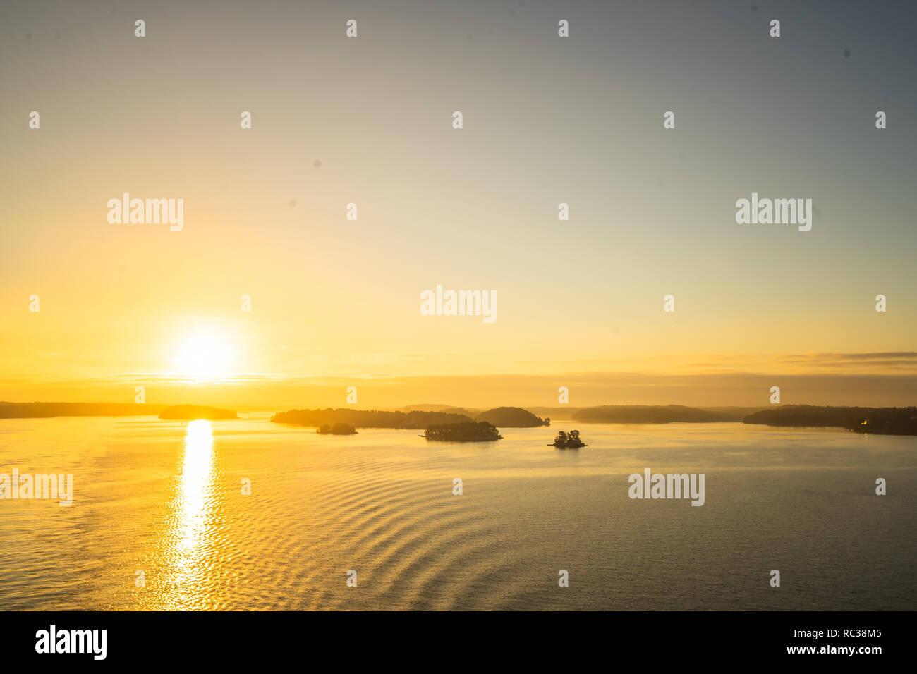 Stockholm Schären Sunset Stock Photo